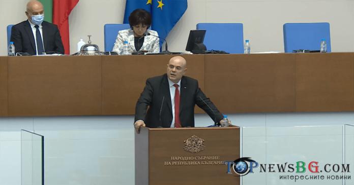 Иван Гешев в парламента, доклад