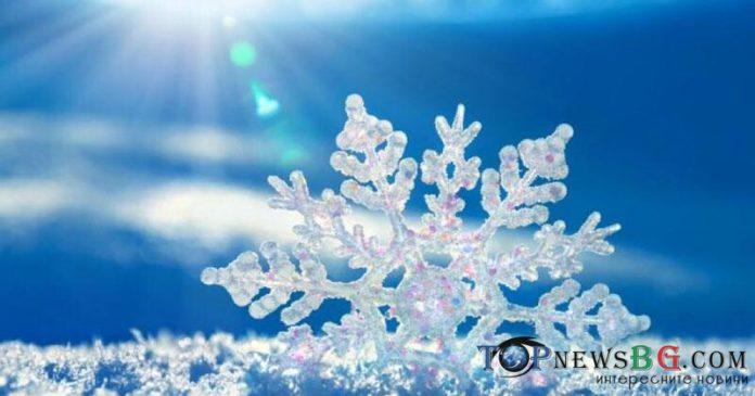 времето, сняг, снежинка